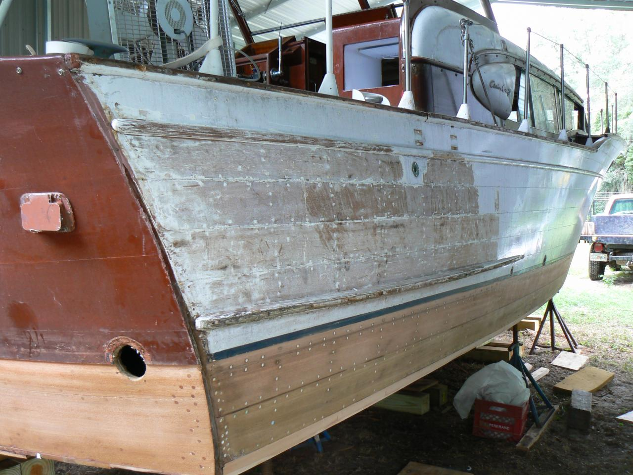 This is wooden boat plank replacement boat plans for Chris craft boat restoration